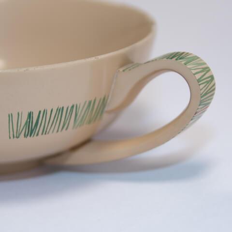 スープカップ グリーン アップ