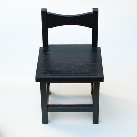 雑貨 小椅子 ブラック