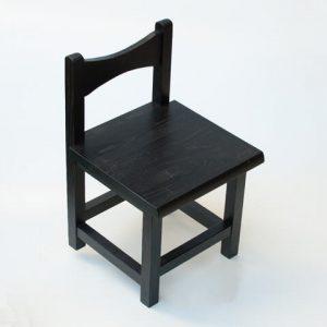 雑貨 小椅子 ブラック 斜め